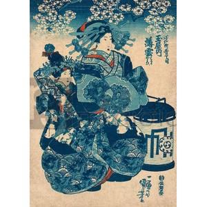 Utagawa Kuniyoshi - Tamaya uchi Usugumo