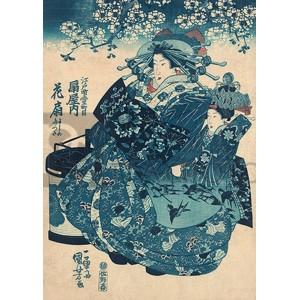 Utagawa Kuniyoshi - The Courtesan Hanao of Ogi-ya