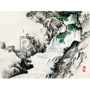 Kono Bairei - Waterfall