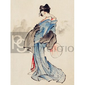 Katsushika Hokusai - Courtesan