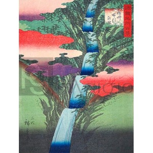 Ando Hiroshige - The Nunobiki Waterfall in Settsu Province