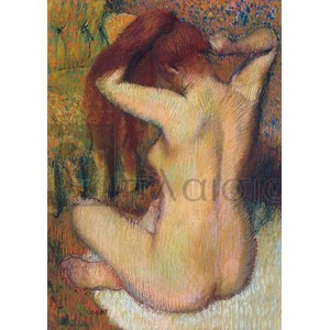 Degas Edgar Germain Hilaire - Woman Combing her Hair