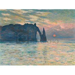Claude Monet - Sunrise at Etretat