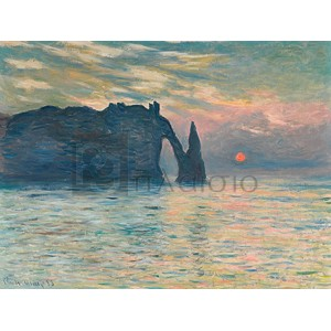 Claude Monet - Sunrise at Etretat