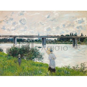 Claude Monet - The Promenade with the Railroad Bridge, Argenteuil