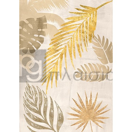 Eve C. Grant - Palm Leaves Gold I
