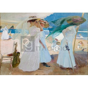 Joaquin Sorolla Y Bastida - Under the Awning, Zarauz