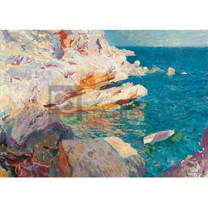 Joaquin Sorolla Y Bastida - Rock at Jávea and the White Boat