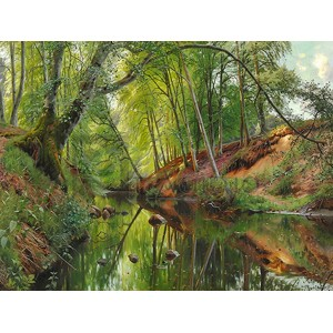 Peder Mork Monsted - A Stream in the forest