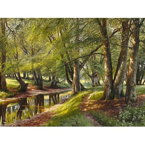 Peder Mork Monsted - A summer day in the forest