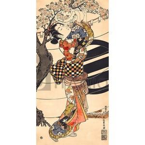 Toyonobu Ishikawa - Hanging poems on a cherry tree