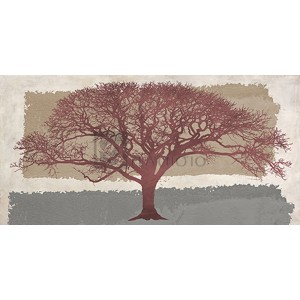 Alessio Aprile - Burgundy Tree on abstract background