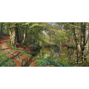 Peder Mork Monsted - A spring day in the forest