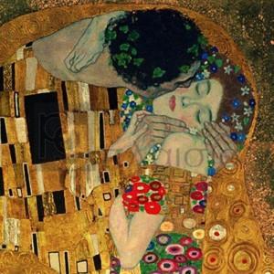 Gustav Klimt - Il bacio (detail)