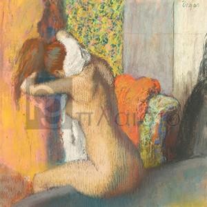 Degas Edgar Germain Hilaire - Après le Bain, Femme S'essuyant la Nuque