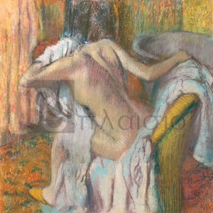 Degas Edgar Germain Hilaire - After the Bath, Woman Drying Herself