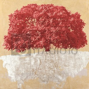 Alessio Aprile - Red Tree on Gold