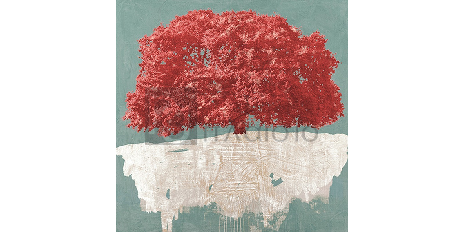 Alessio Aprile - Red Tree on Aqua