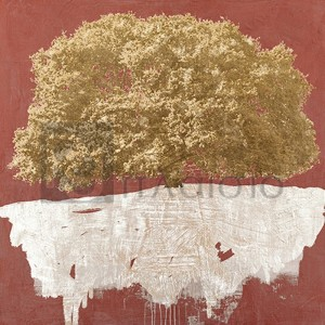 Alessio Aprile - Golden Tree on Red