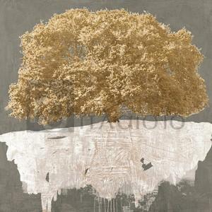 Alessio Aprile - Golden Tree on Grey