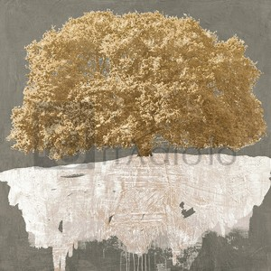 Alessio Aprile - Golden Tree on Grey