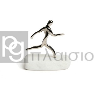 Runner on Thassos Marble (Silver)