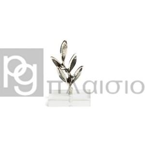 Κλαδί Ελιάς σε Plexi Glass (Ασημί)