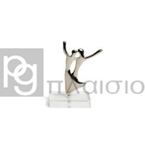 Decorative with Dancers in plexi glass (Silver)