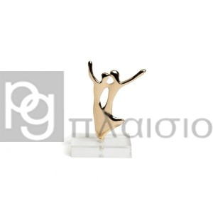 Decorative with Dancers in plexi glass (Gold)