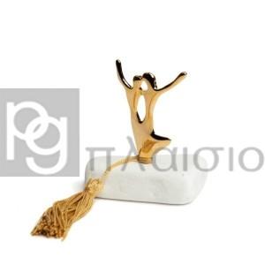 Διακοσμητικό με τους Χορευτές σε Μάρμαρο Θάσου (Χρυσό)