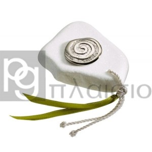 Decorative with the Spiral in Marble of Thassos (Silver)