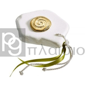 Decorative with the Spiral in Marble of Thassos (Gold)
