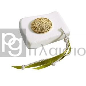 Διακοσμητικό με  τον Δίσκο της Φαιστού  σε Μάρμαρο Θάσου (Χρυσό)
