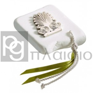Decorative with Acrokeramos in Marble of Thassos (Silver)