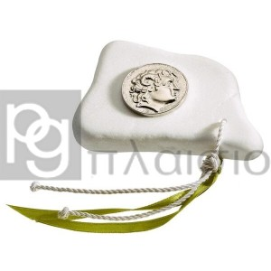 Decorative with Alexander in Marble of Thassos (Silver)