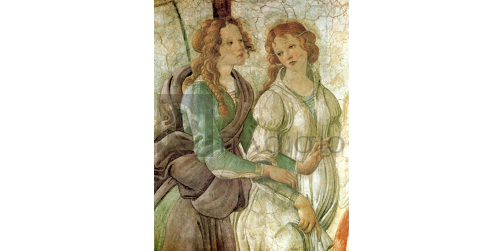 Sandro Botticelli - Venere offre doni (part)