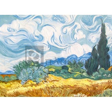 Vincent Van Gogh - Campo di grano con cipressi
