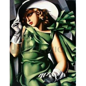 Tamara de Lempicka - Donna vestita in verde