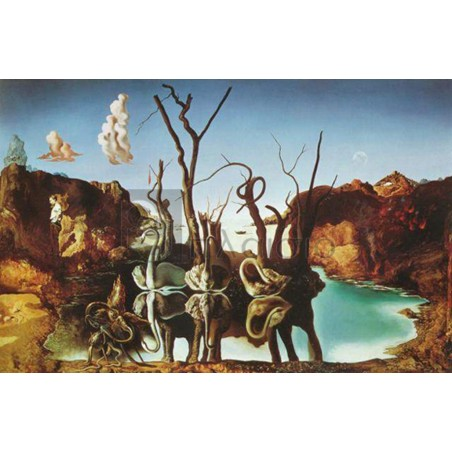 Salvador Dali - Reflection of elephants