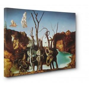 Salvador Dali - Reflection of elephants