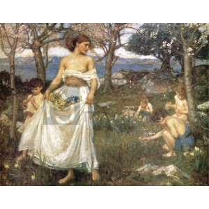 Waterhouse John William - A song of springtime