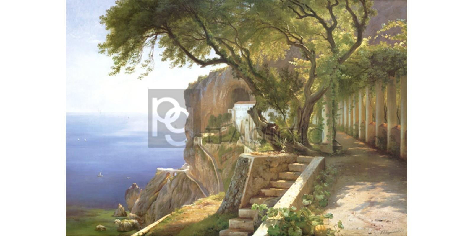 Carl Frederic Aagaard - Pergola in Amalfi