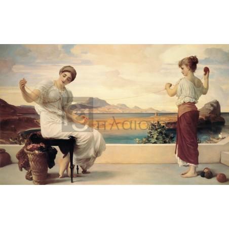 Frederic Leighton - Winding the Skein