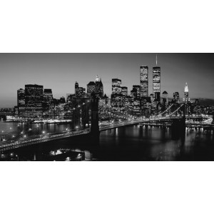 Pg-Plaisio - Brooklyn Bridge with twin Towers