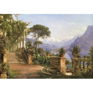 Carl Frederic Aagaard - Lodge on Lake Como