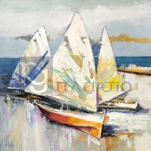 Luigi Florio - Barche sulla spiaggia (detail)