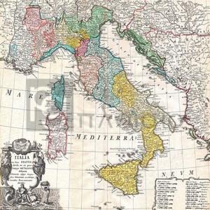 Johann Homann - Map of Italy, 1742