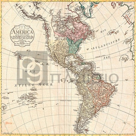 Conrad Mannert - Map of North America and South America, 1796