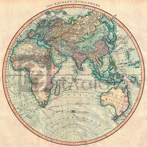 John Cary - Map of the Eastern Hemisphere