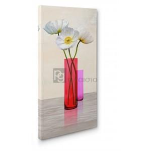 Cynthia Ann - Poppies in crystal vases (Purple II)